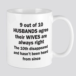 9 out of 10 HUSBANDS Mugs
