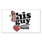 This Guy Loves Bacon Sticker