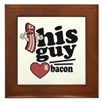 This Guy Loves Bacon Framed Tile