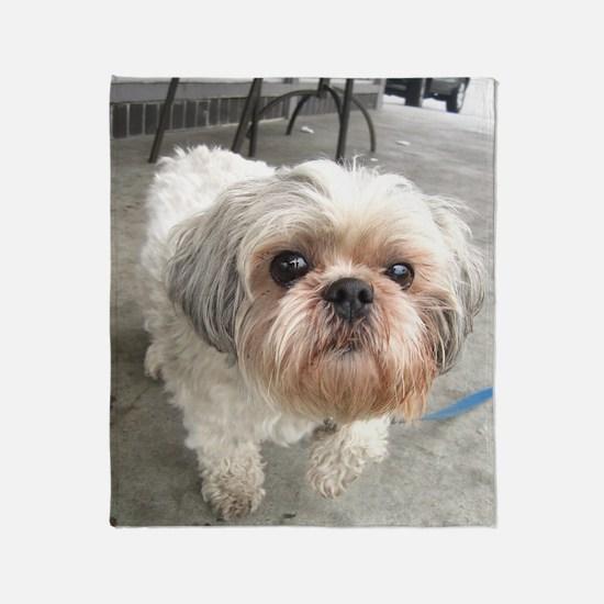 Cute Dog head Throw Blanket