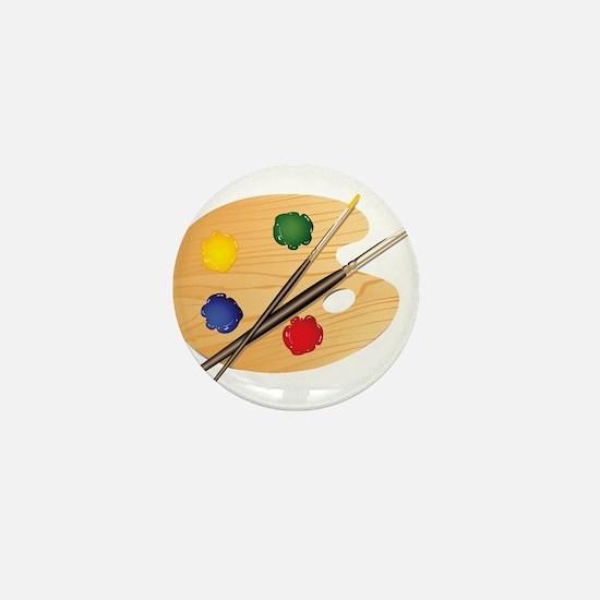 Artist Palette Mini Button