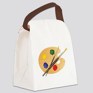 Artist Palette Canvas Lunch Bag