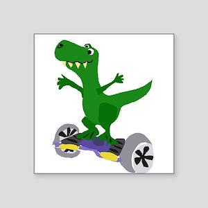 Funny T-Rex Dinosaur on Motorized Skateboa Sticker