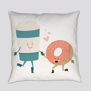 Coffe & Doughut Everyday Pillow