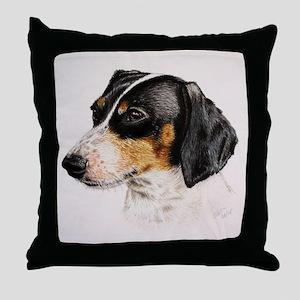 lovely dachshund Throw Pillow