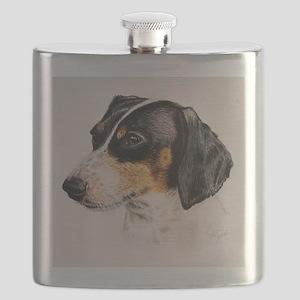 lovely dachshund Flask