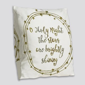 Brightly Shining Burlap Throw Pillow
