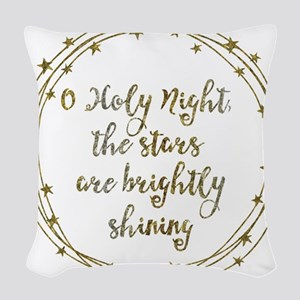 Brightly Shining Woven Throw Pillow