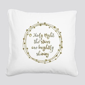 Brightly Shining Square Canvas Pillow