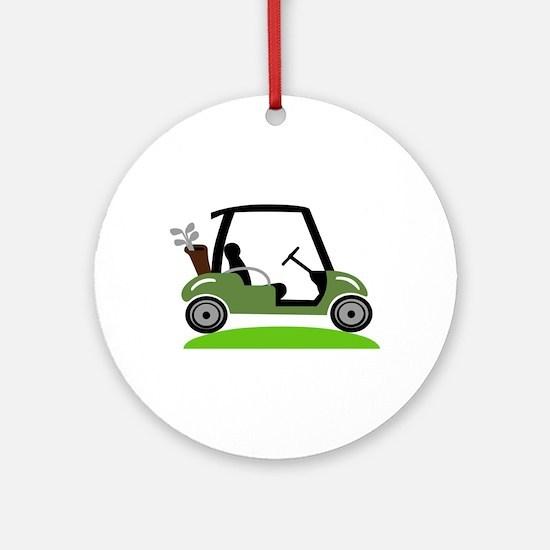 Golf Cart Round Ornament