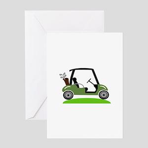 Golf Cart Greeting Cards
