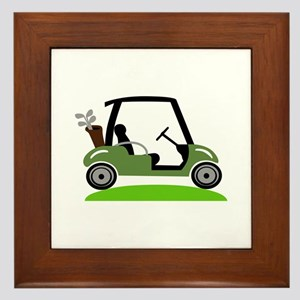 Golf Cart Framed Tile