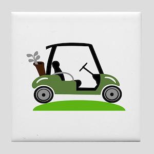 Golf Cart Tile Coaster