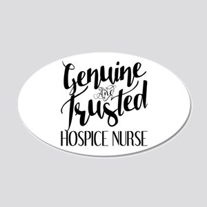 Genuine and Trusted Hospice 20x12 Oval Wall Decal
