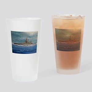USS COLORADO large posters Drinking Glass