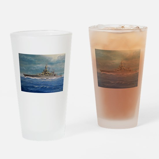 USS COLORADO large posters.jpg Drinking Glass