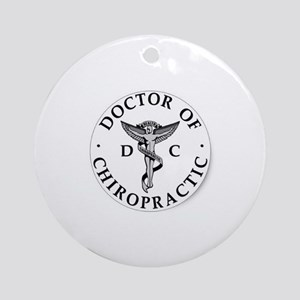 Doctor of Chiropractic Round Ornament