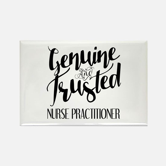 Nurse Practitioner Genuine and Tr Rectangle Magnet