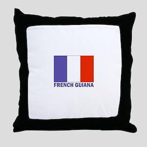 French Guiana Throw Pillow