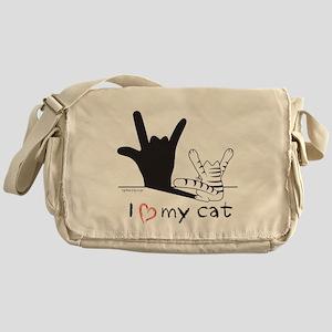 I Love My Cat Messenger Bag