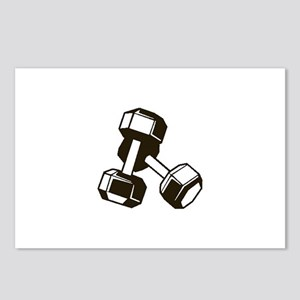 Fitness Dumbbells Postcards (Package of 8)