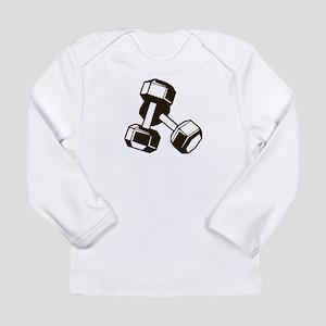 Fitness Dumbbells Long Sleeve T-Shirt