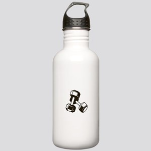 Fitness Dumbbells Stainless Water Bottle 1.0L