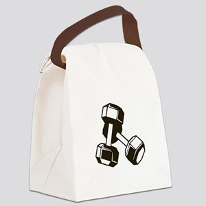 Fitness Dumbbells Canvas Lunch Bag