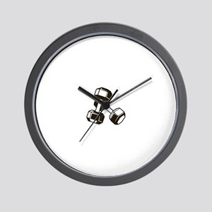 Fitness Dumbbells Wall Clock