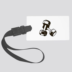 Fitness Dumbbells Large Luggage Tag