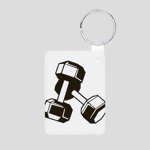 Fitness Dumbbells Keychains