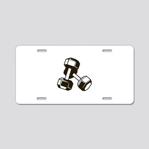 Fitness Dumbbells Aluminum License Plate