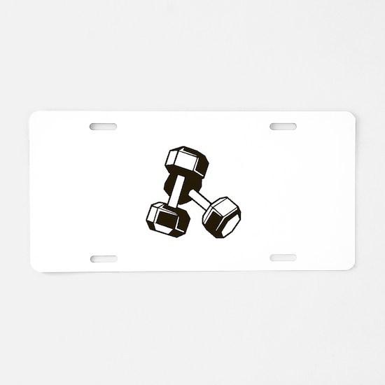 Fitness Dumbbells Aluminum License Plate