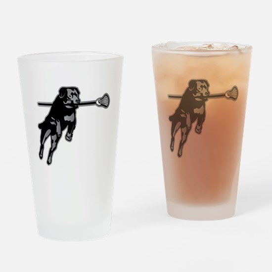 Lax Dog Drinking Glass