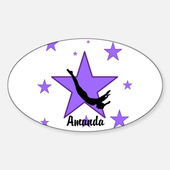 Purple Trampoline Star Decal