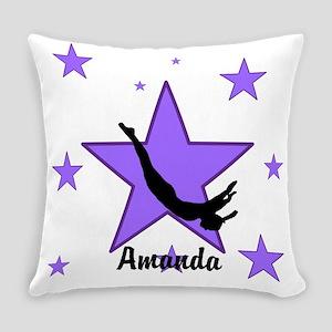 Purple Trampoline Star Everyday Pillow