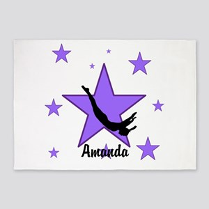 Purple Trampoline Star 5'x7'Area Rug