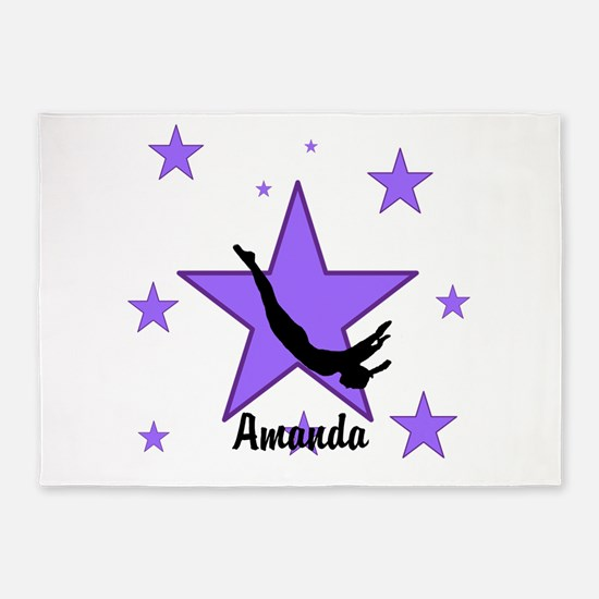 Purple Trampoline Star 5'x7'Area Rug