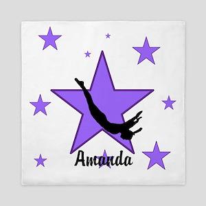Purple Trampoline Star Queen Duvet