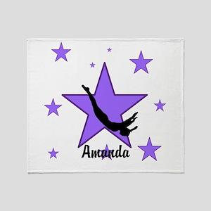 Purple Trampoline Star Throw Blanket
