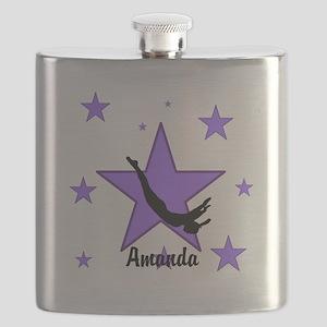 Purple Trampoline Star Flask
