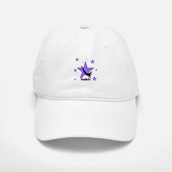 Purple Trampoline Star Baseball Baseball Baseball Cap