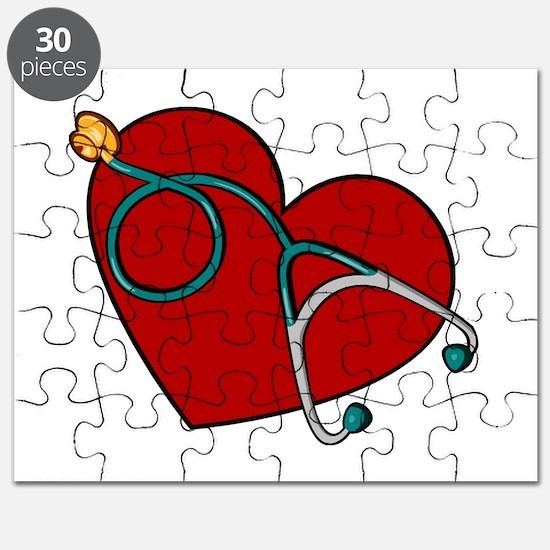 Nurse RN Heart Puzzle