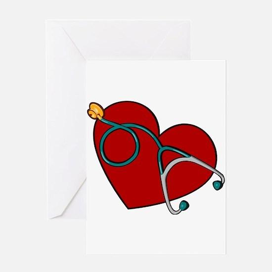 Nurse RN Heart Greeting Cards