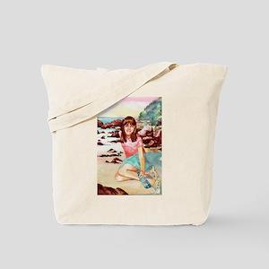 Girl on a Beach Tote Bag