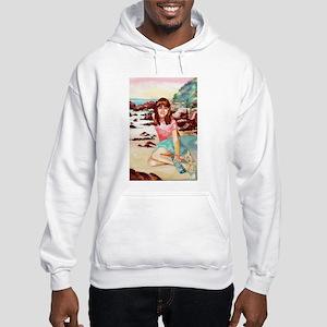Girl on a Beach Hooded Sweatshirt