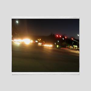 IMG_9520 traffic lights in dark Throw Blanket