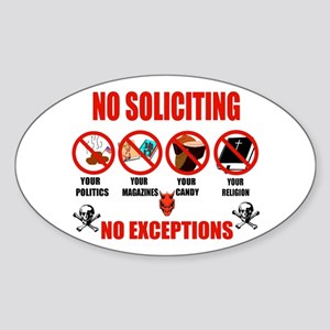 No Solicitors Oval Sticker