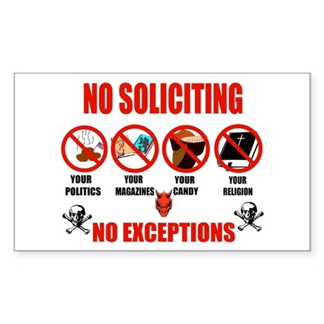No Solicitors Rectangle Sticker