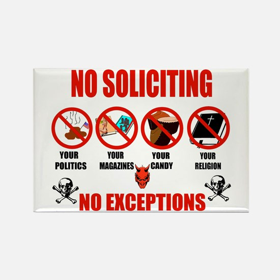 No Solicitors Rectangle Magnet